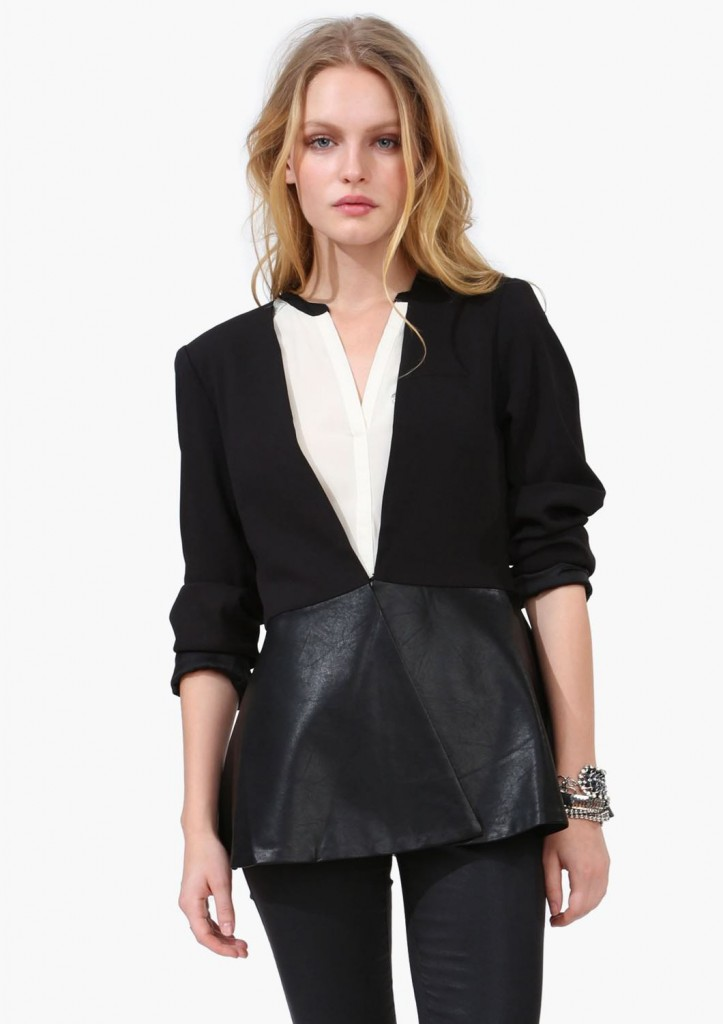 Trend To Try: The Leather Look Peplum