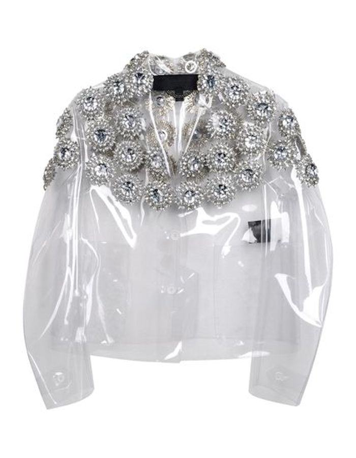Currently Coveting: Burberry Prorsum Transparent Embellished Blazer