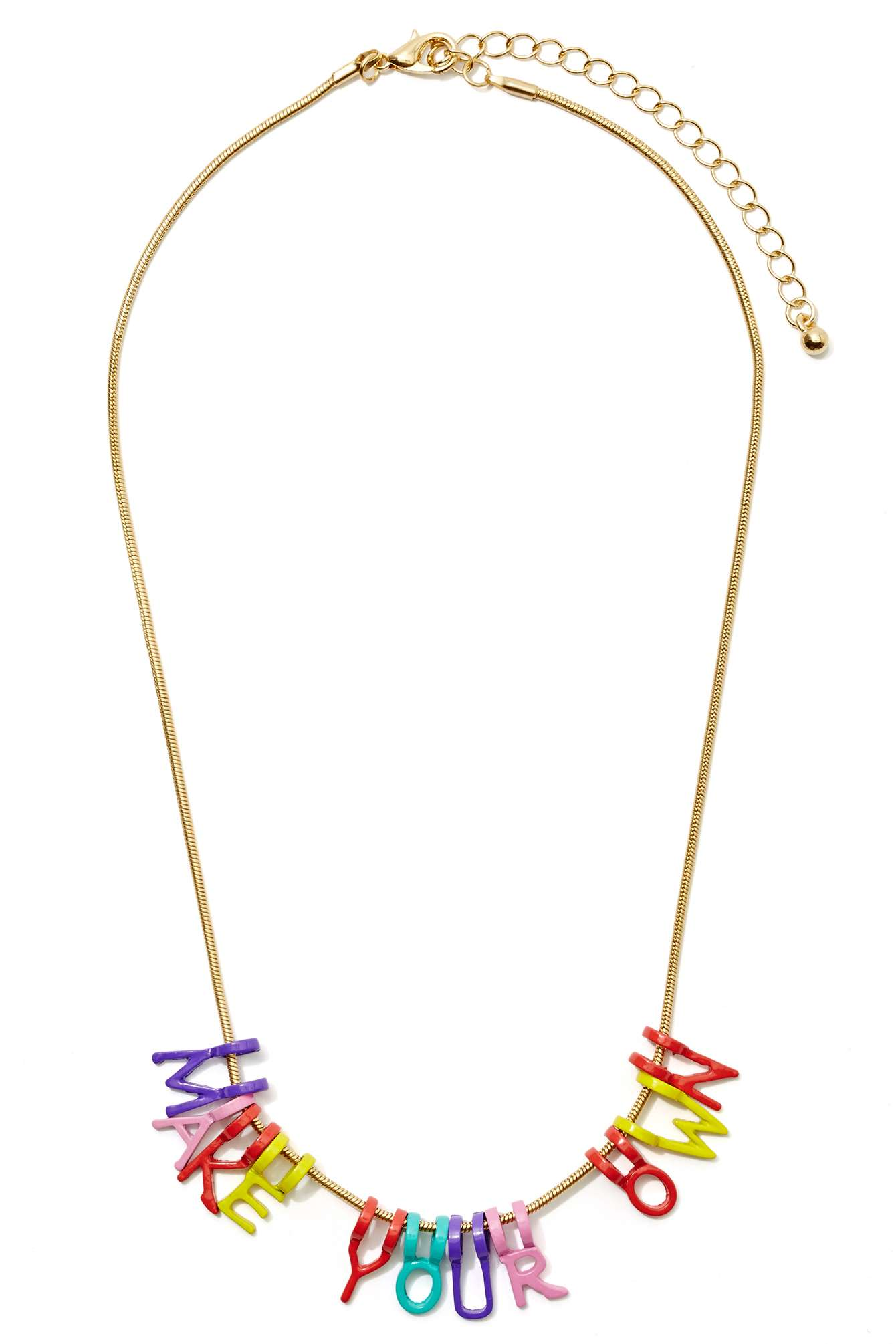 Currently Coveting: Spell It Out Necklace