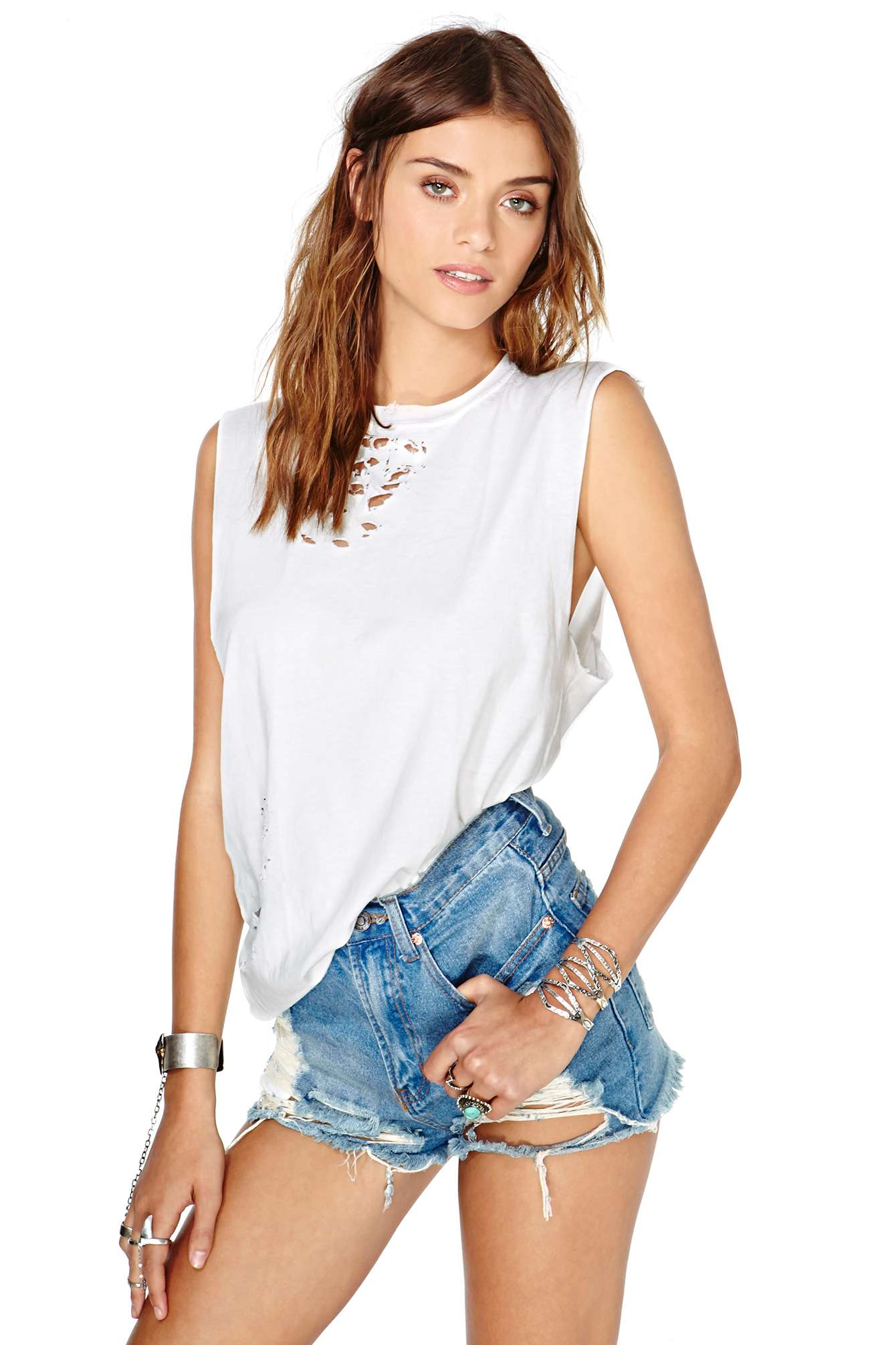 Get The Cut-Off Denim Shorts With The Perfect Shred! (And The Legs To Go With Them!)