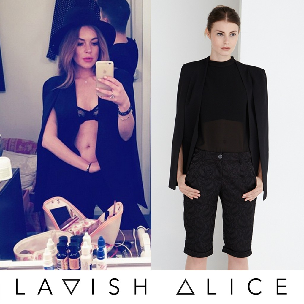 Lindsay Lohan Spotted In Lavish Alice