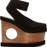 Stella McCartney Black Cut-Out Platform Sandal