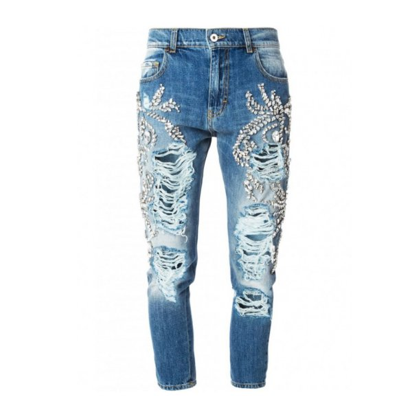 Pick Of The Day: Marco Bologna Crystal Embellished Distressed Jeans