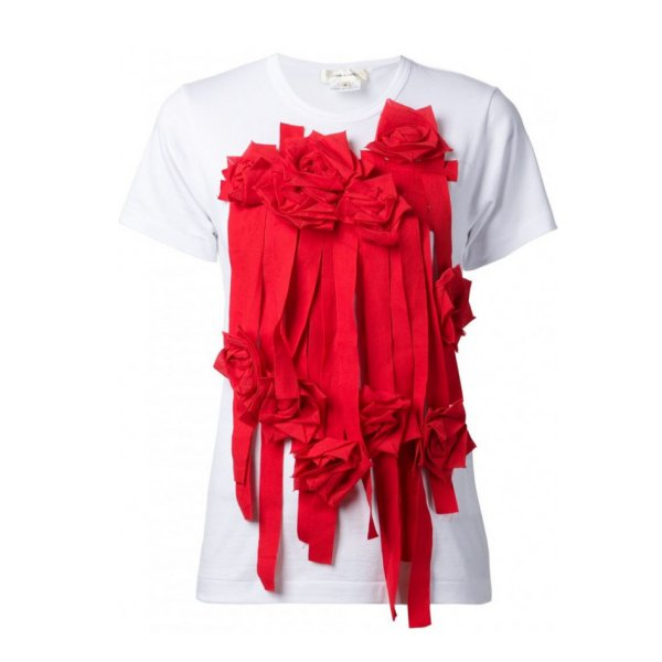 Currently Coveting: Comme Des Garçons Applique Flowers Tee