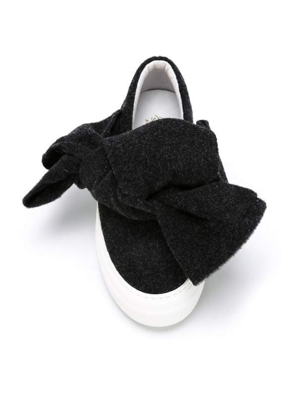 Currently Coveting: Joshua Sanders Felt Bow Slip-On Sneakers