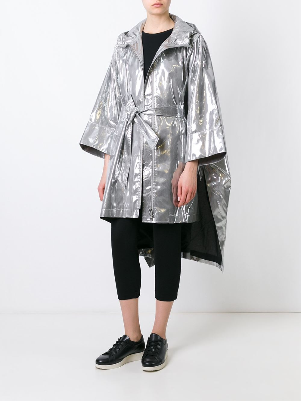 Here's The Wanda Nylon Cape Coat You'll Love To Wear When It Rains