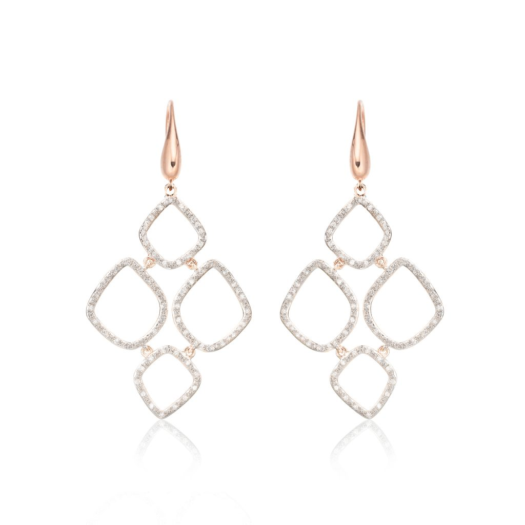 HRH Duchess of Cambridge Riva Cluster Drop Earrings
