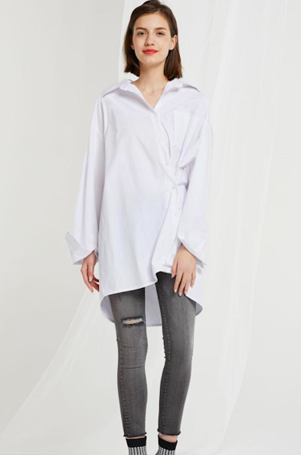 Current Obsession: This Two-Way White Blouse