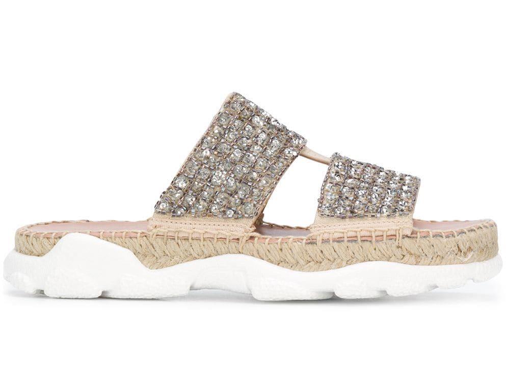 Twin-Set Embellished Sporty Sandals